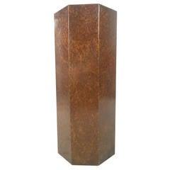 Vintage Modern Burl Finish Pedestal