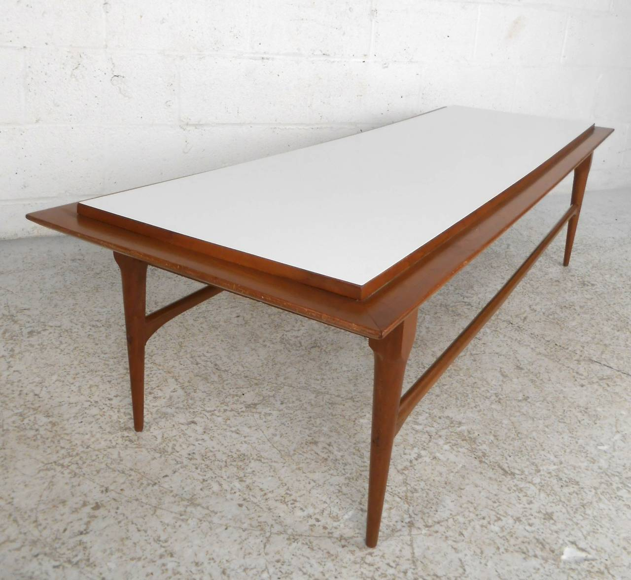 Mid century modern long coffee table for sale at 1stdibs for Long coffee table
