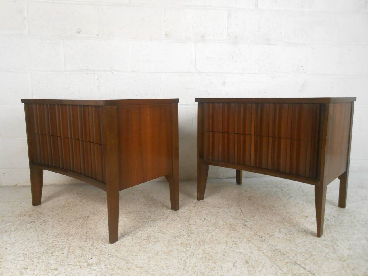 Mid century modern curved front nightstands by unagusta 2
