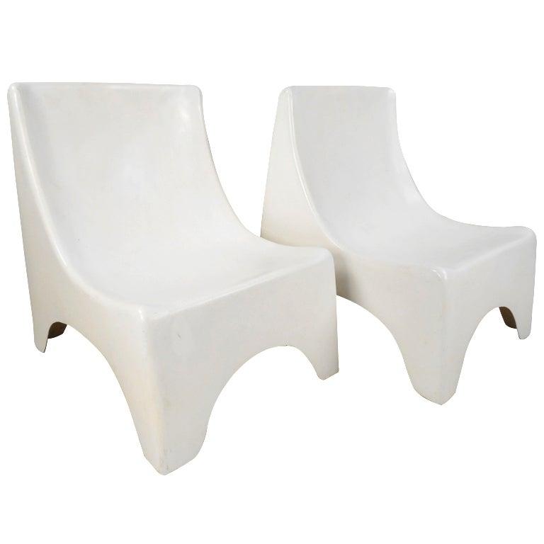 Molded Fiberglass Lounge Chairs