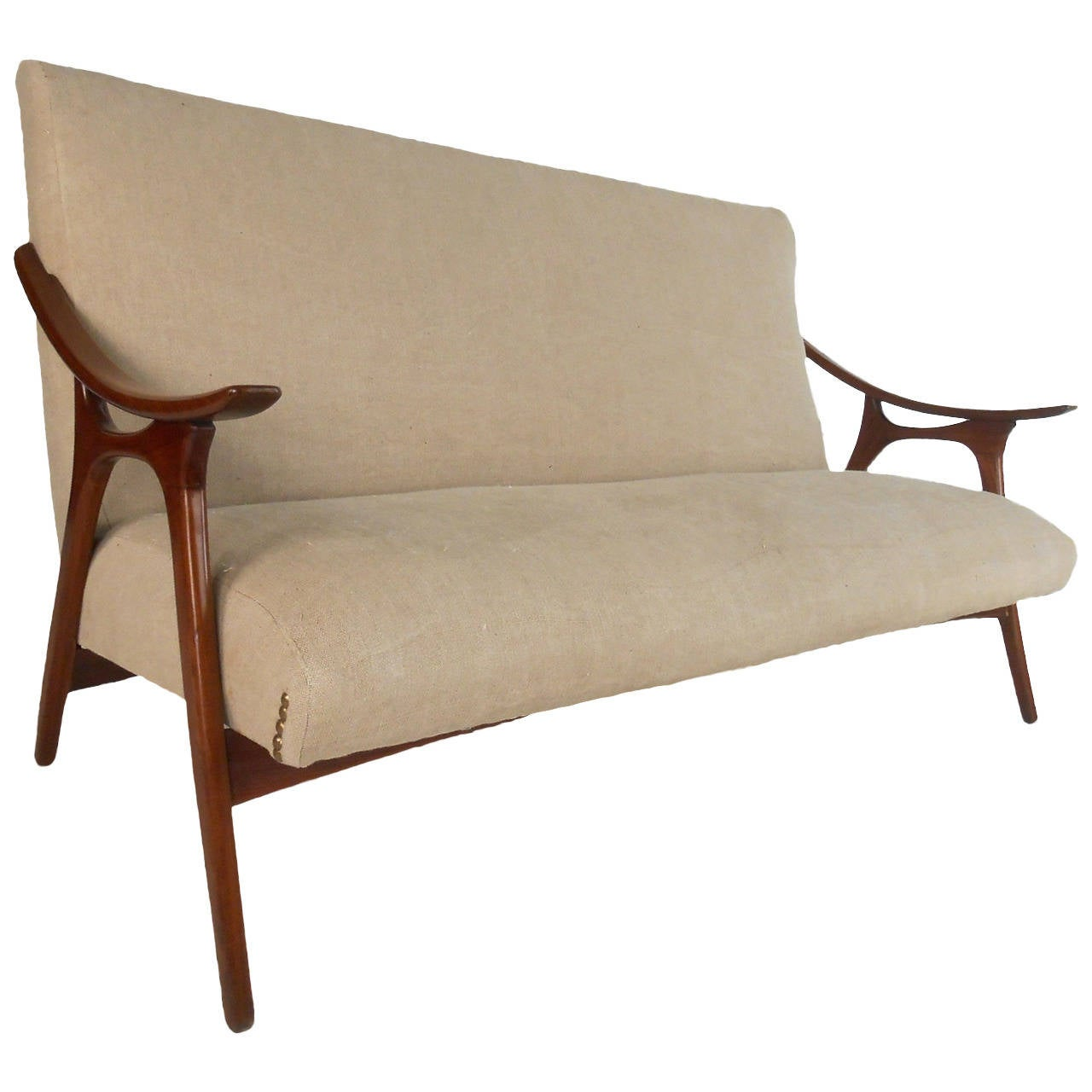 Mid century modern peter hvidt style sofa for sale at 1stdibs for Mid century modern sofa for sale