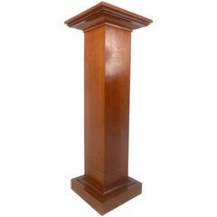 Mid-Century Modern Pedestal with Decorative Inlay
