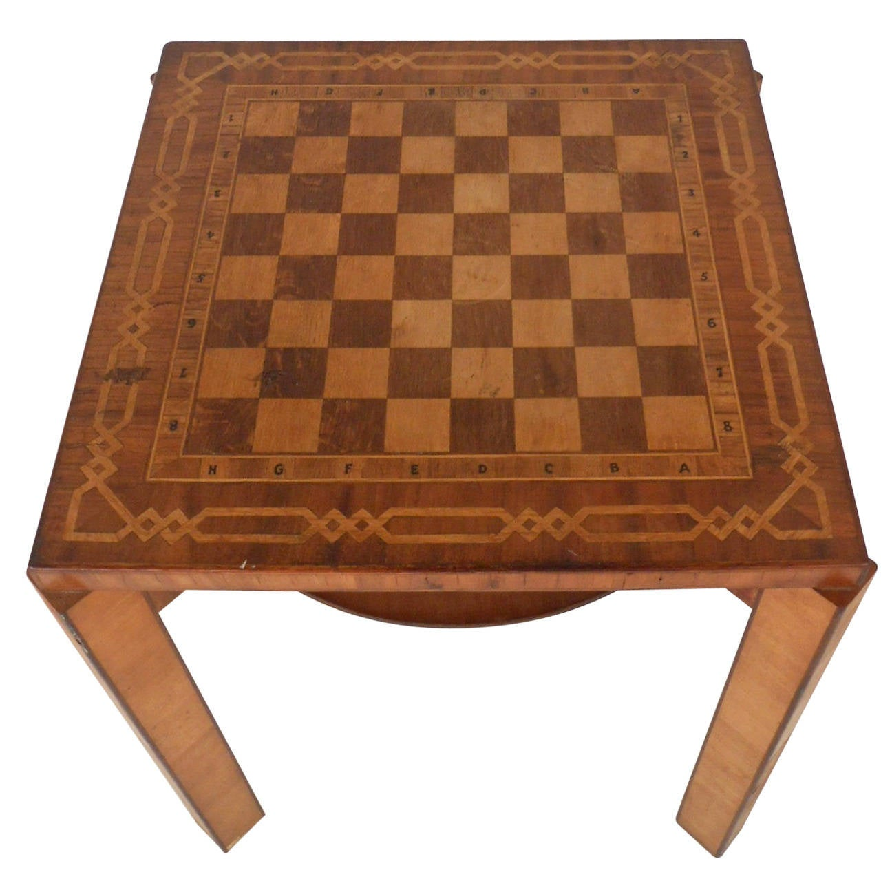 Unique Vintage Decorative Inlay Chess & Gaming Table