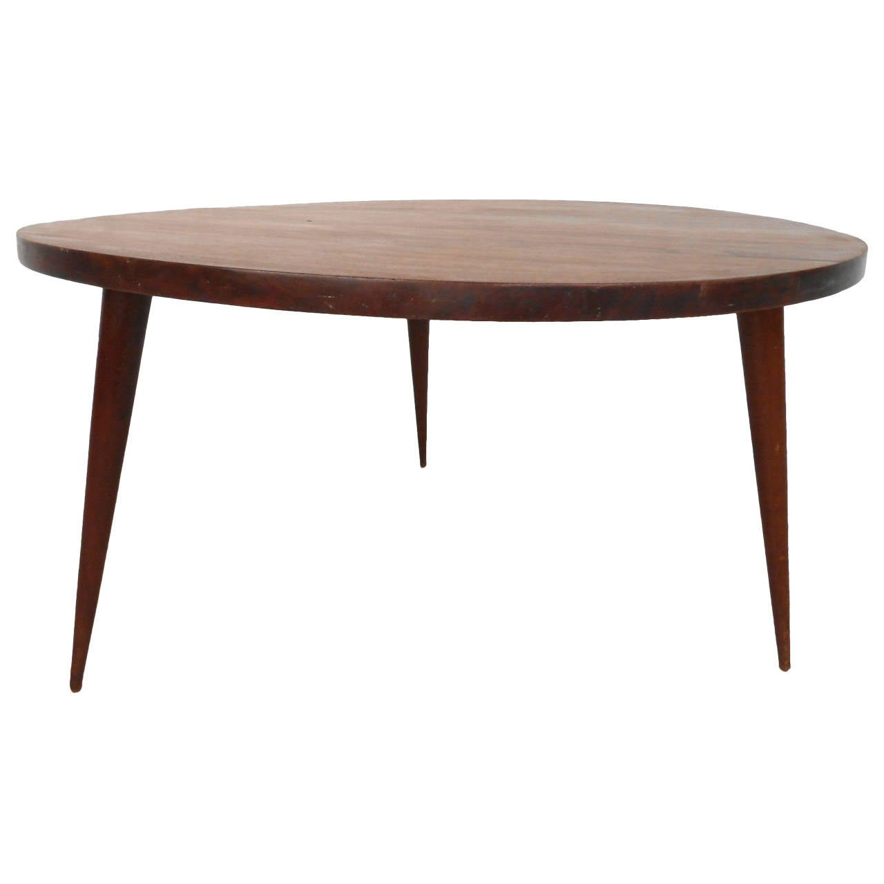 Mid century modern small round coffee table at 1stdibs Round coffee tables