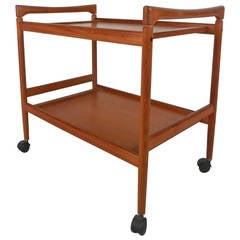Scandinavian Modern Teak Serving Cart