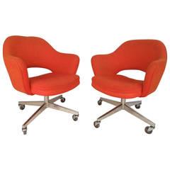Eero Saarinen Designed Rolling Chairs for Knoll