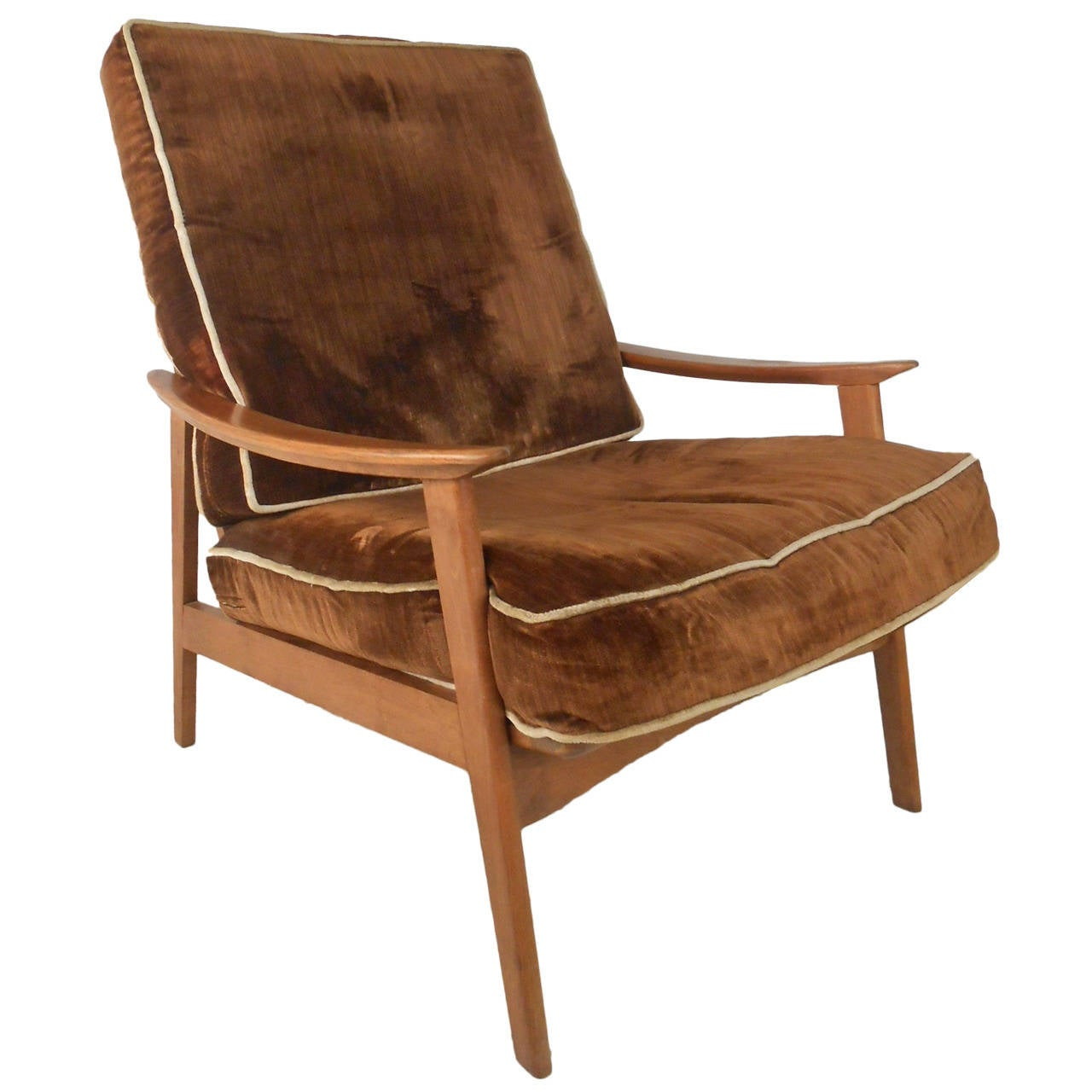 this mid century modern american walnut lounge chair is no longer