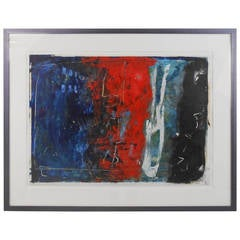 Unique Contemporary Abstract Oil Painting Signed