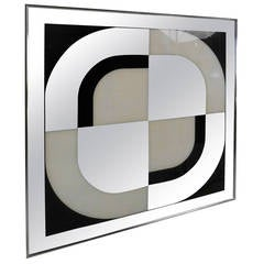 Unique Mid-Century Modern Mirrored Wall Art by Turner Design