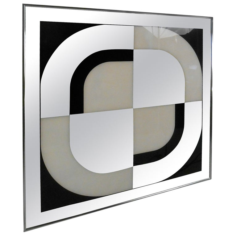 Unique Mid-Century Modern Mirrored Wall Art by Turner Design For Sale