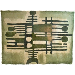 Large Mid-Century Modern Abstract Shag Rug