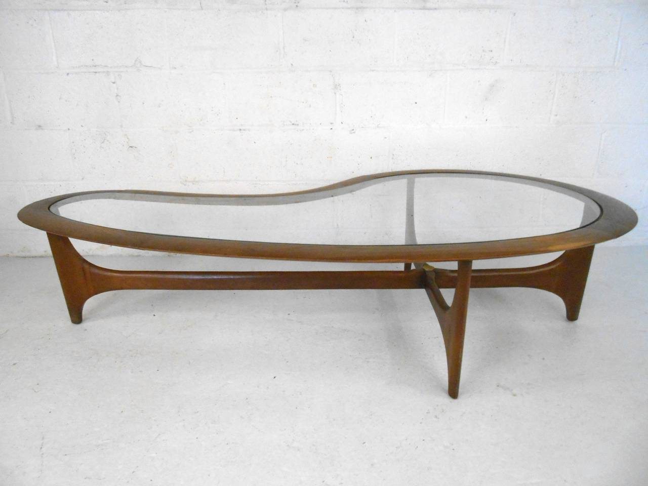 Mid century modern pearsall style kidney coffee table by for Modern style coffee tables