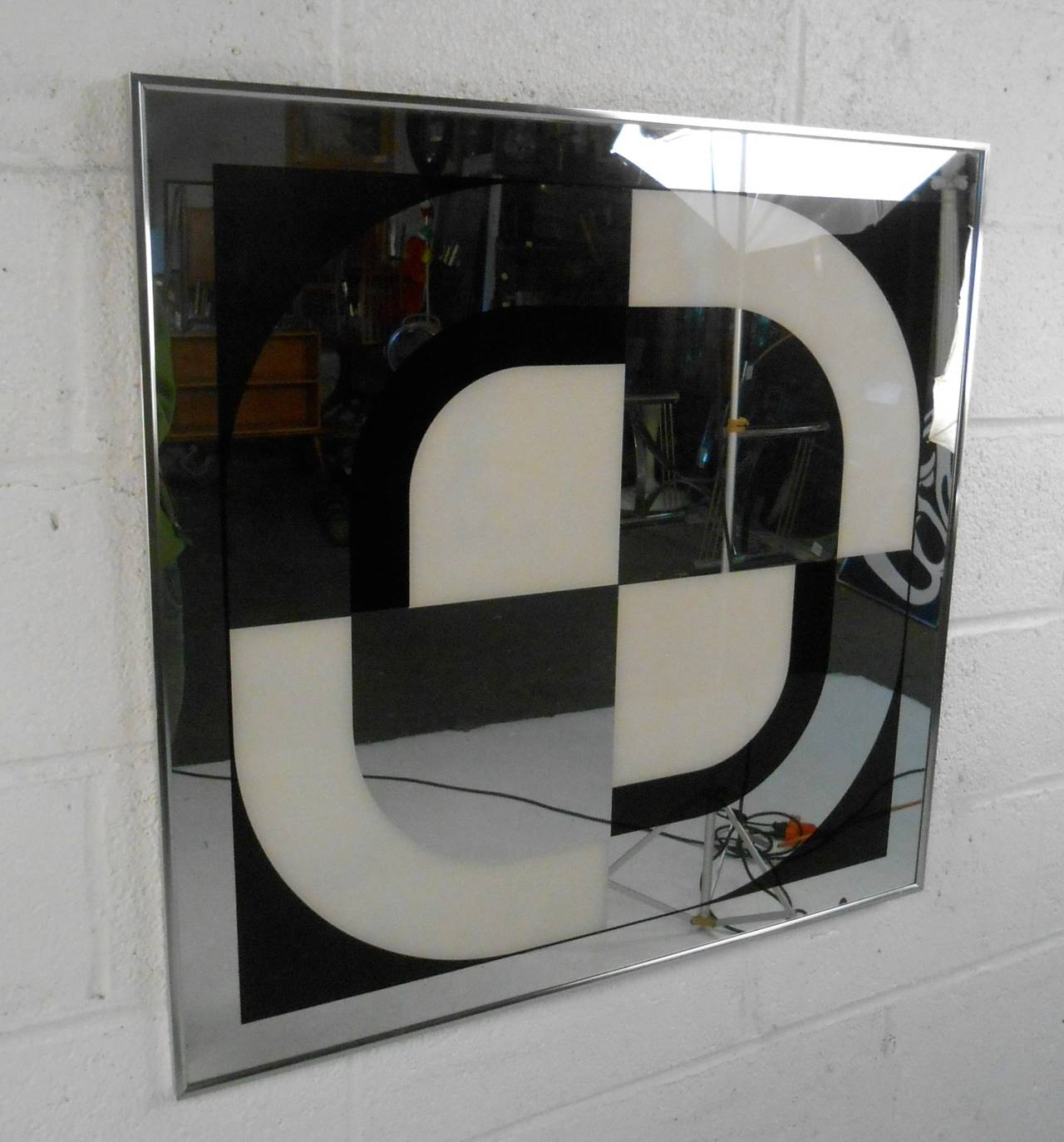 This Unique Mid Century Mirrored Wall Art Makes A Wonderful Addition To Any  Vintage Decor