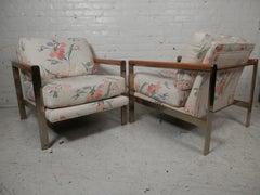 Mid Century Modern Milo Baughman Style Chairs