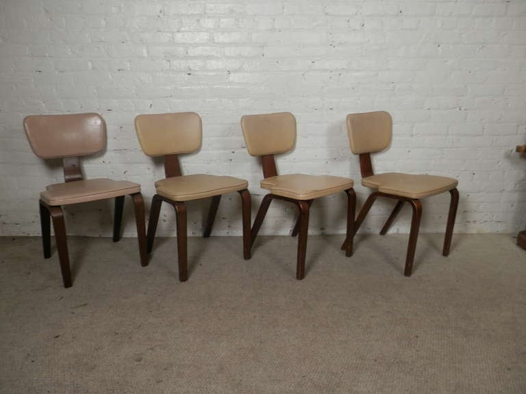Mid-20th Century Set Of Four Chairs By Thonet For Sale