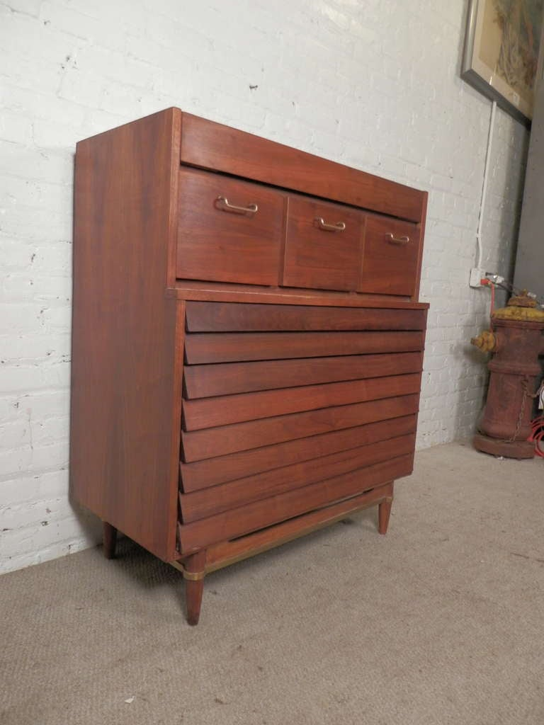beautiful louvered front dresser by american of martinsville image 4