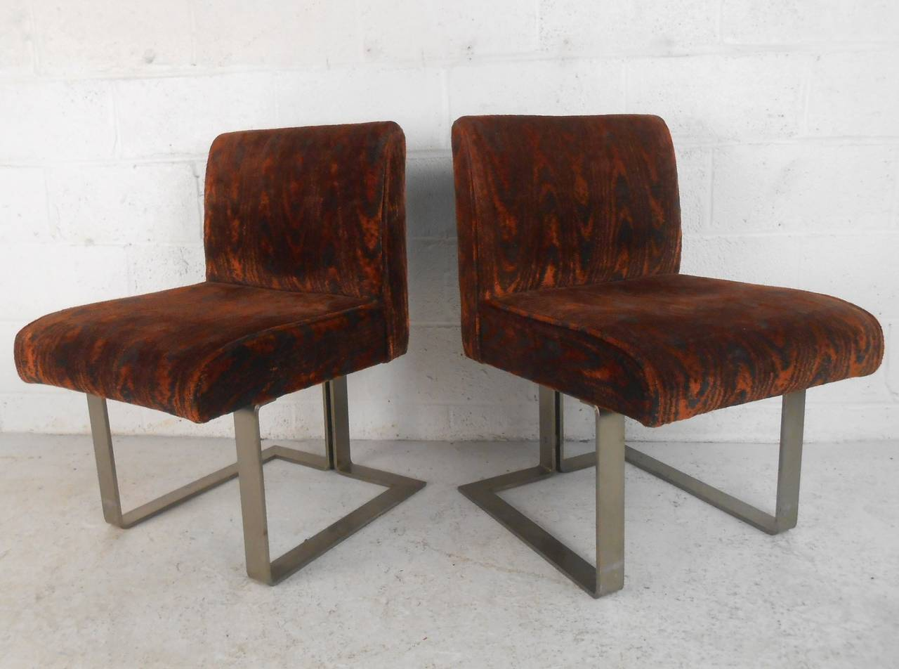 set of unique mid century modern kagan style dining chairs for sale at