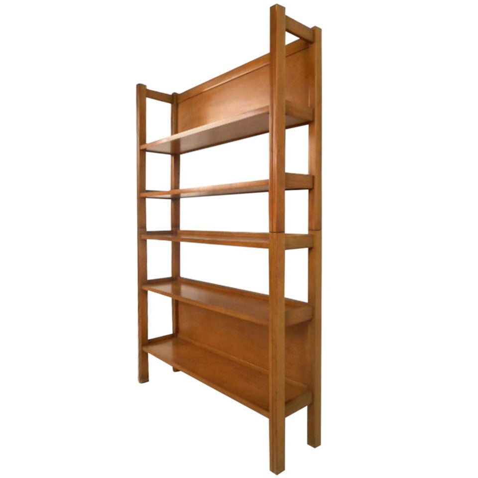 Unique mid century modern two piece maple bookshelf at 1stdibs for Contemporary bookshelf plans