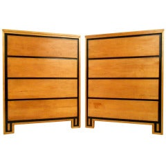 Pair of Highboy Dressers by Leslie Diamond for Conant-Ball