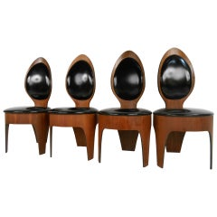 "Set of Vintage Dining Chairs by Henry Glass, ""Spoon Chairs"""