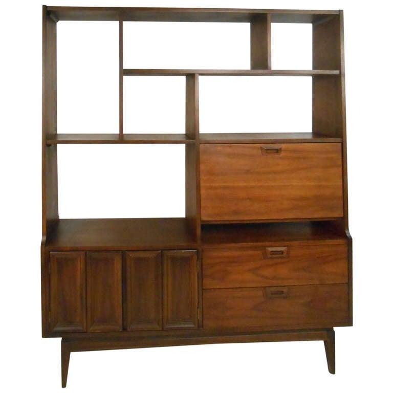 Mid Century Bookcase Desk
