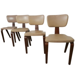 Set Of Four Chairs By Thonet