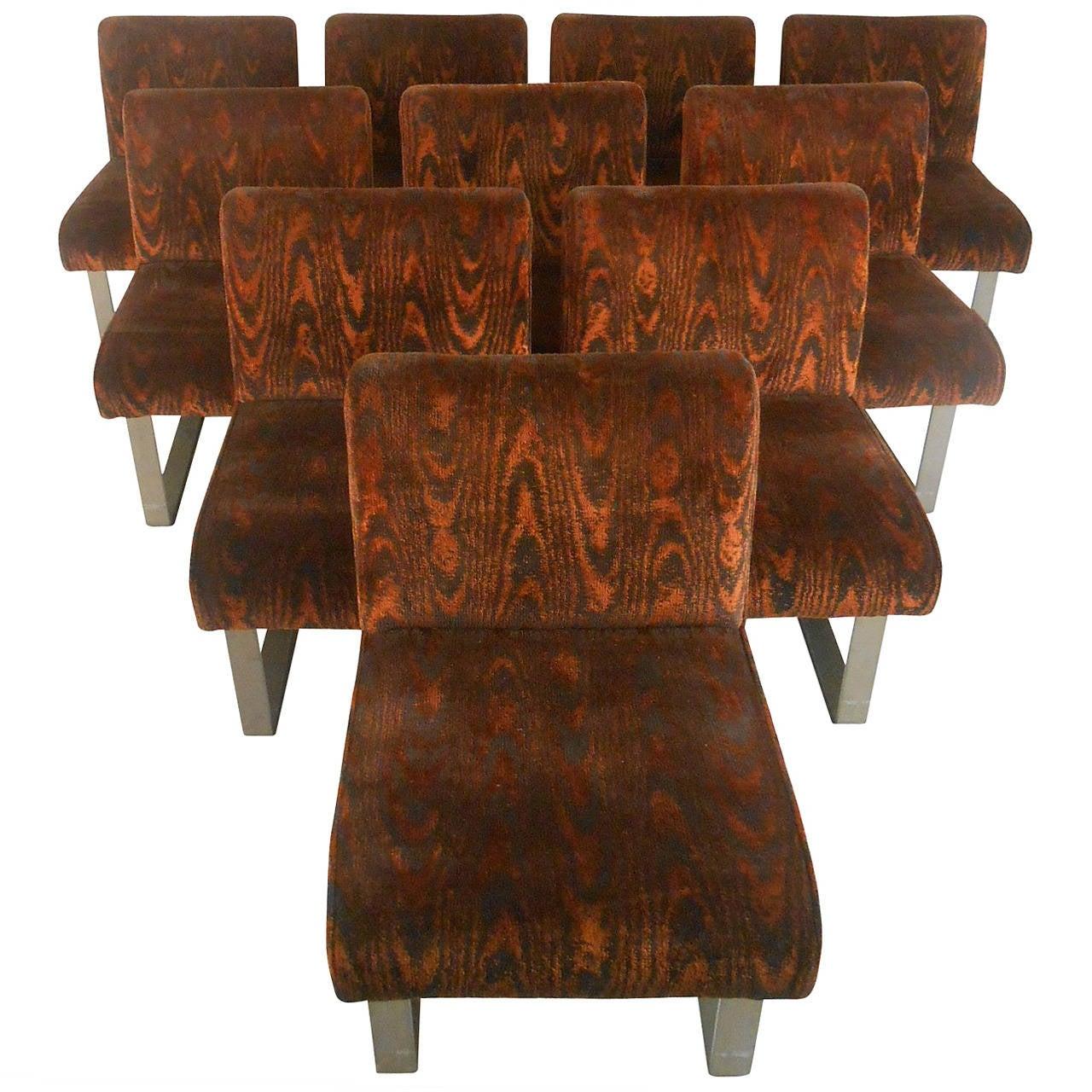 Ten Vintage Modern Dining Chairs after Vladimir Kagan