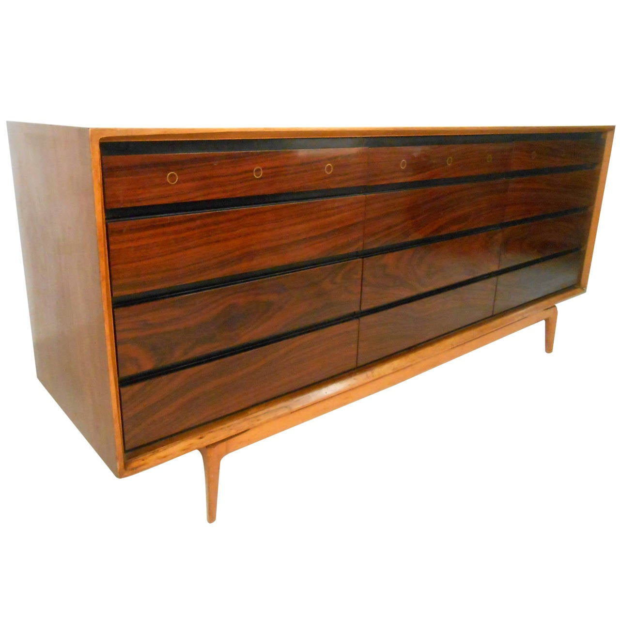 Gorgeous Mid Century Modern Rosewood Dresser At 1stdibs