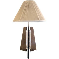 Striking Mid-Century Lucite Lamp
