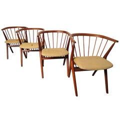 "Danish Modern Teak ""No. 8"" Armchairs Designed by Helge Sibast"