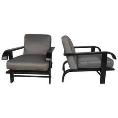 Pair of  Russel Wright Lounge Chairs for Conant Ball