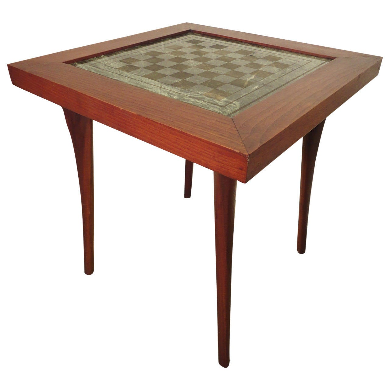 Well Designed Mid Century Chess Table At 1stdibs