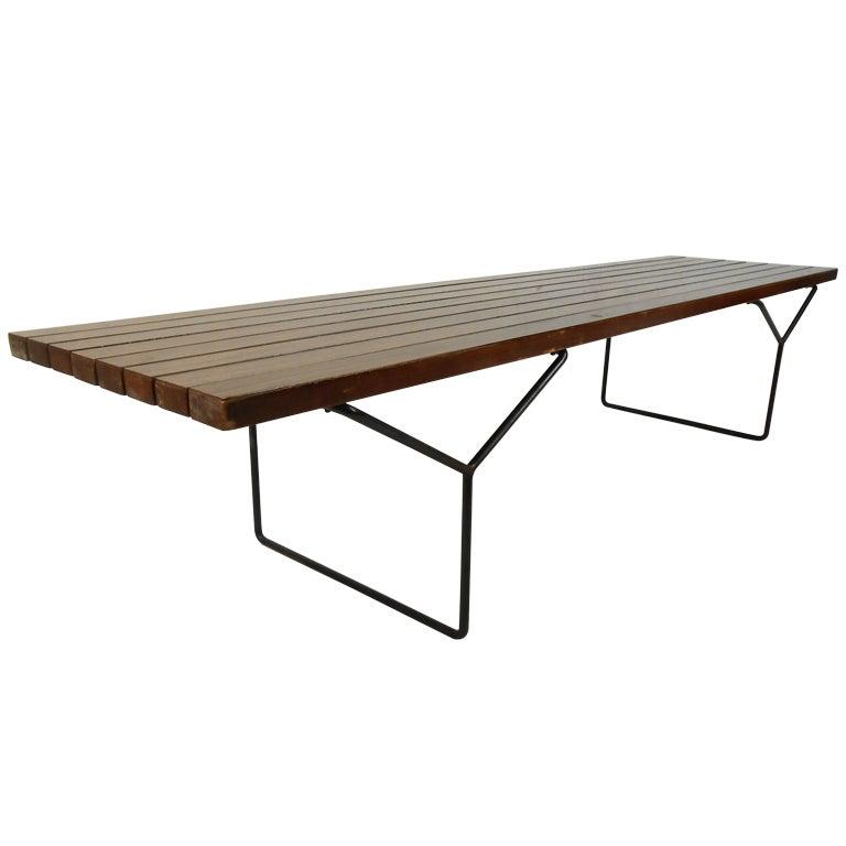 Mid century bertoia slat bench by knoll at 1stdibs - Bertoia coffee table ...