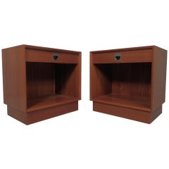 Pair Of Vintage Danish Nightstand Cabinets
