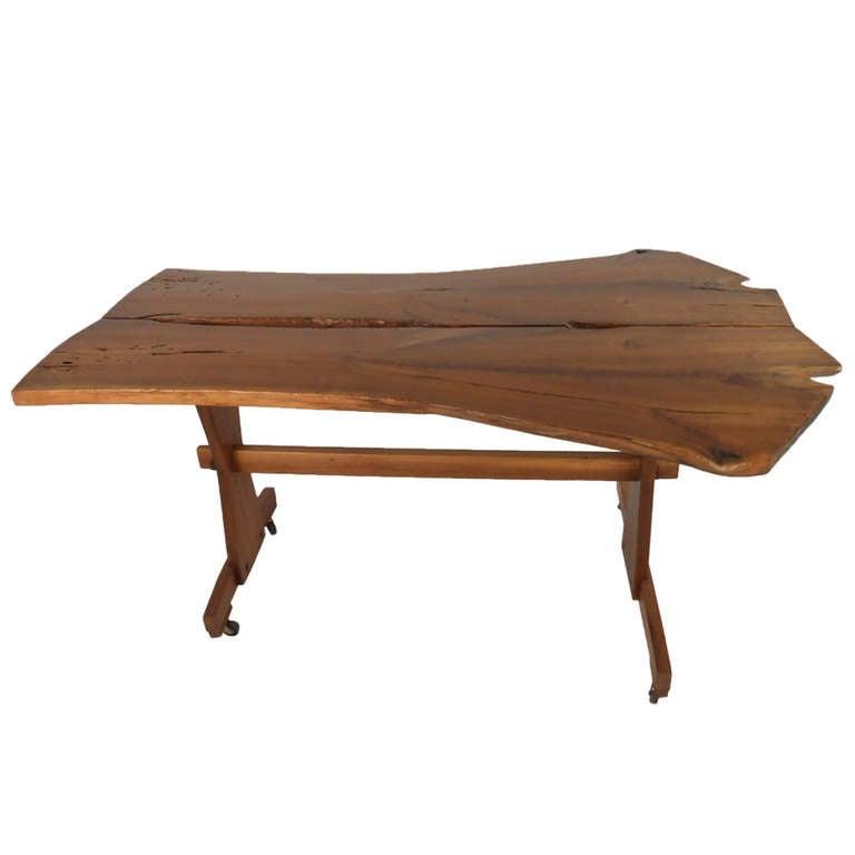 Mid Century Modern Tree Slab Coffee Table For Sale At 1stdibs: Tree Slab Table For Sale At 1stdibs