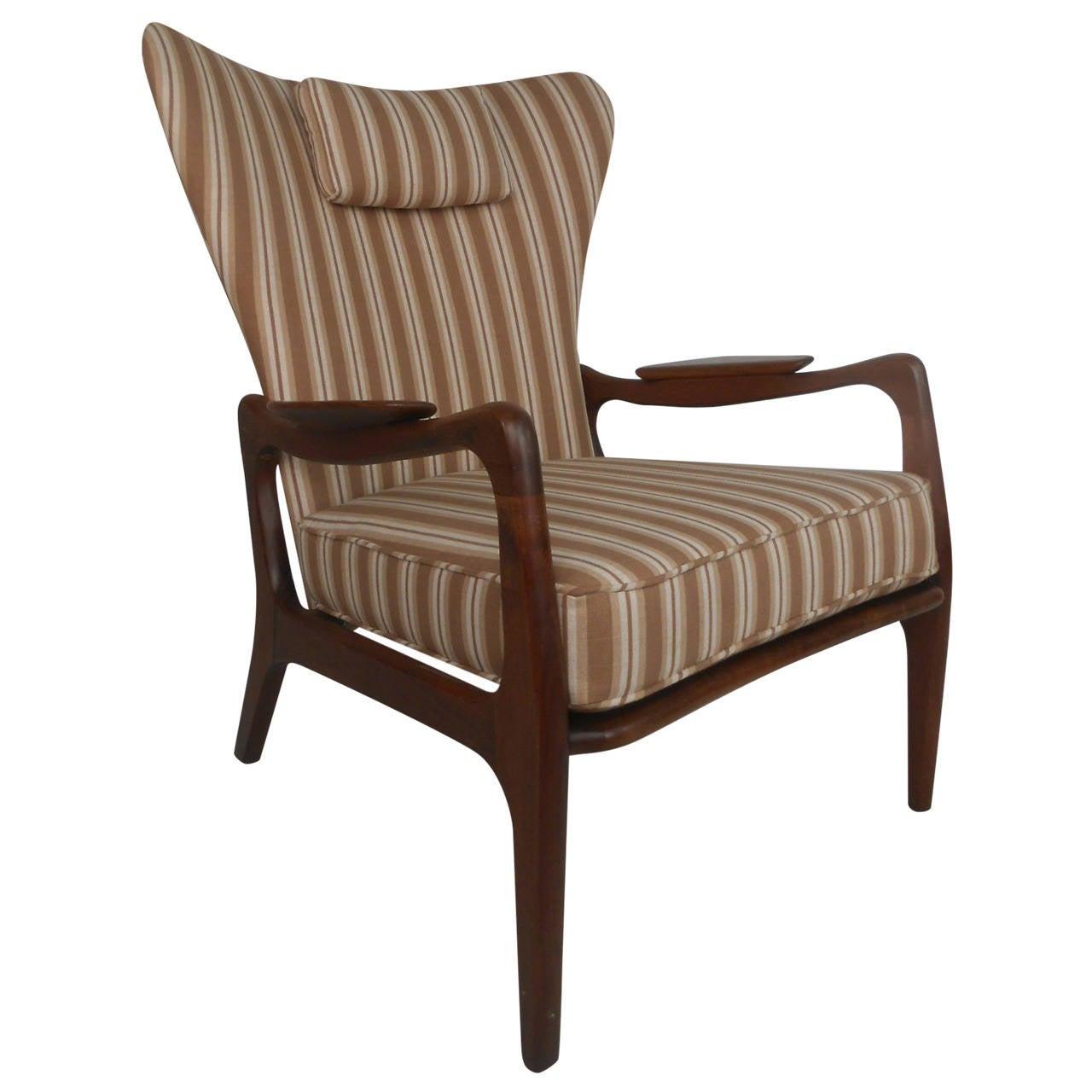 1960s Missoni Wingback Chair At 1stdibs: Adrian Pearsall Wingback Lounge Chair At 1stdibs