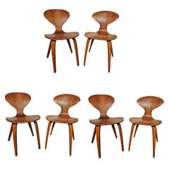 Six Cherner Chairs For Plycraft