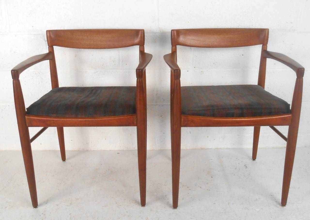 Set of mid century modern moller style dining chairs at