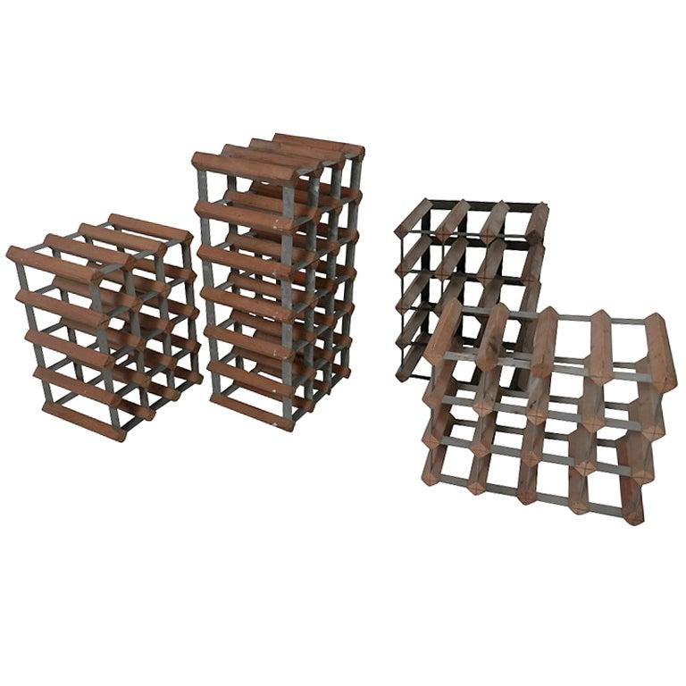 Set Of Four Wood Metal Wine Racks At 1stdibs