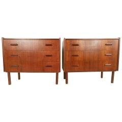 Pair of Scandinavian Modern Teak Dressers