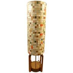Mosaic Glass Tile Three Way Lamp