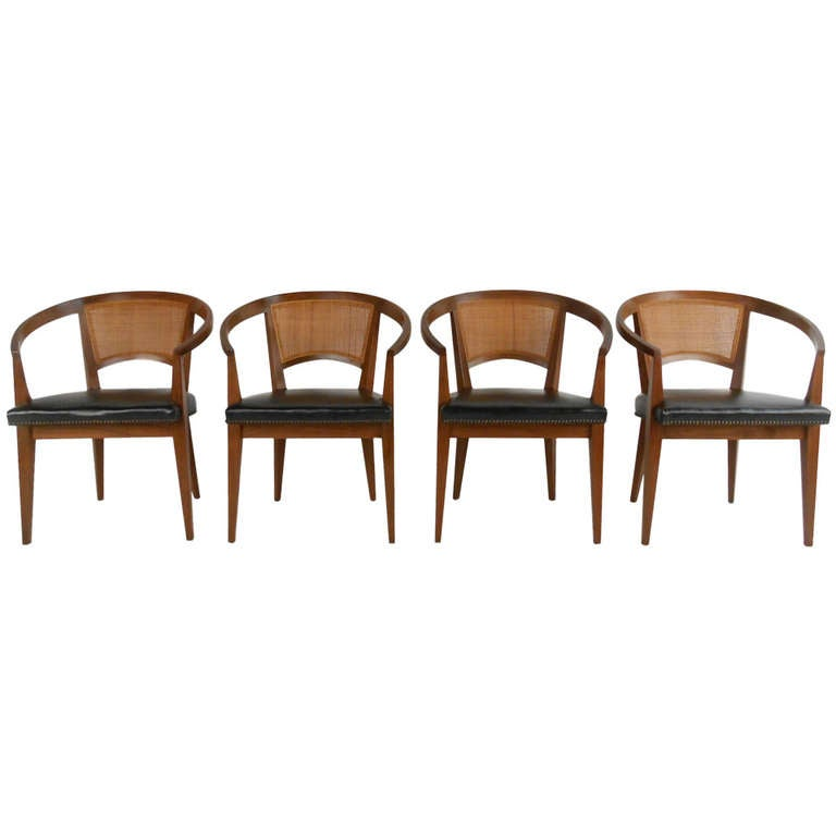 vintage baker cane back chairs at 1stdibs