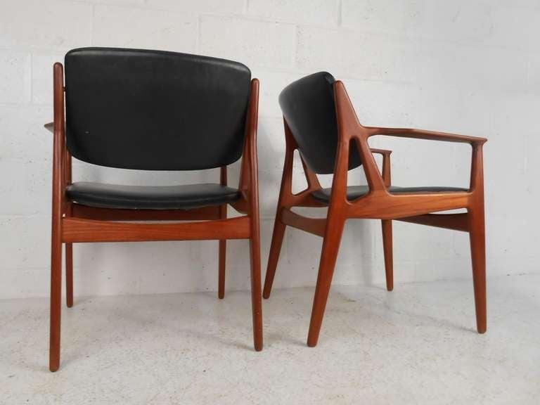 Bon Scandinavian Modern Set Of Six Tilt Back Arne Vodder Mid Century Modern  Dining Chairs For