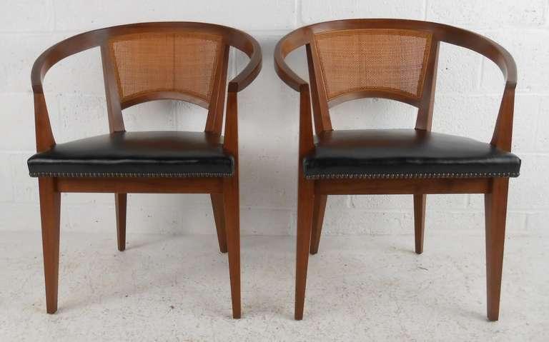 Vintage Baker Cane Back Chairs At 1stdibs
