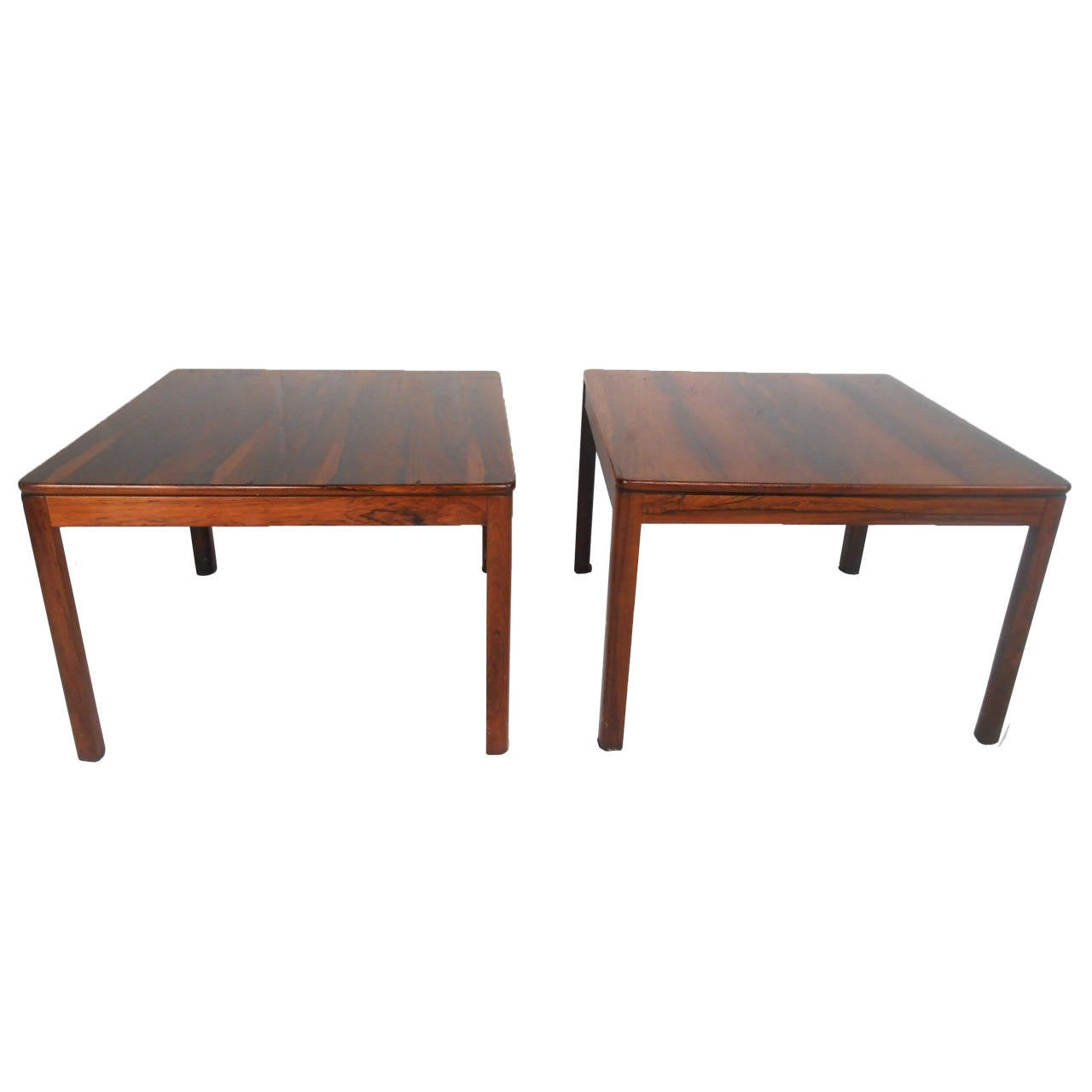 Pair Mid-Century Modern Brode Blindheim Rosewood Side Tables at ...