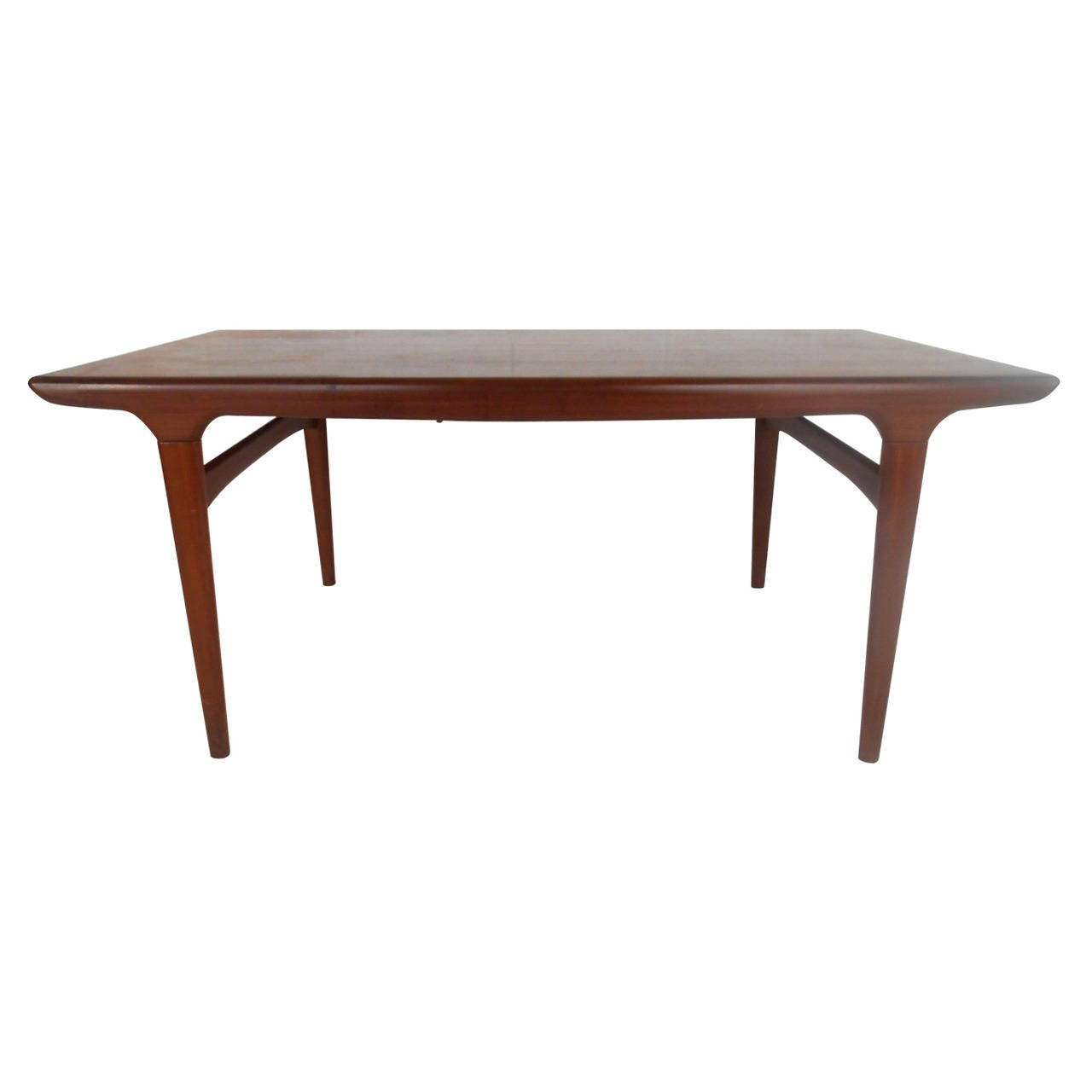 Mid century modern hans wegner style teak draw leaf dining for New style dining table