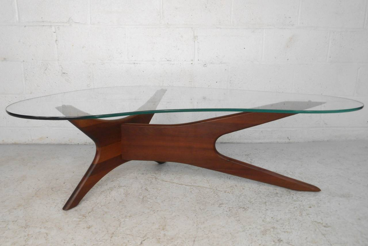 Mid century modern adrian pearsall kidney shaped jacks coffee table at 1stdibs Mid century coffee tables