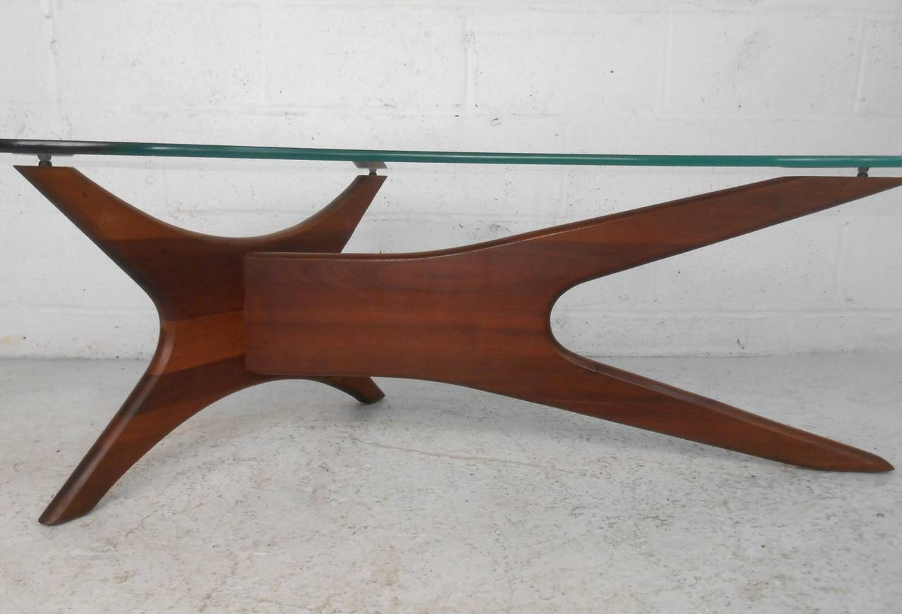 Kidney Shaped Glass Top Coffee Table Mid Century Modern Adrian Pearsall Kidney Shaped Jacks Coffee