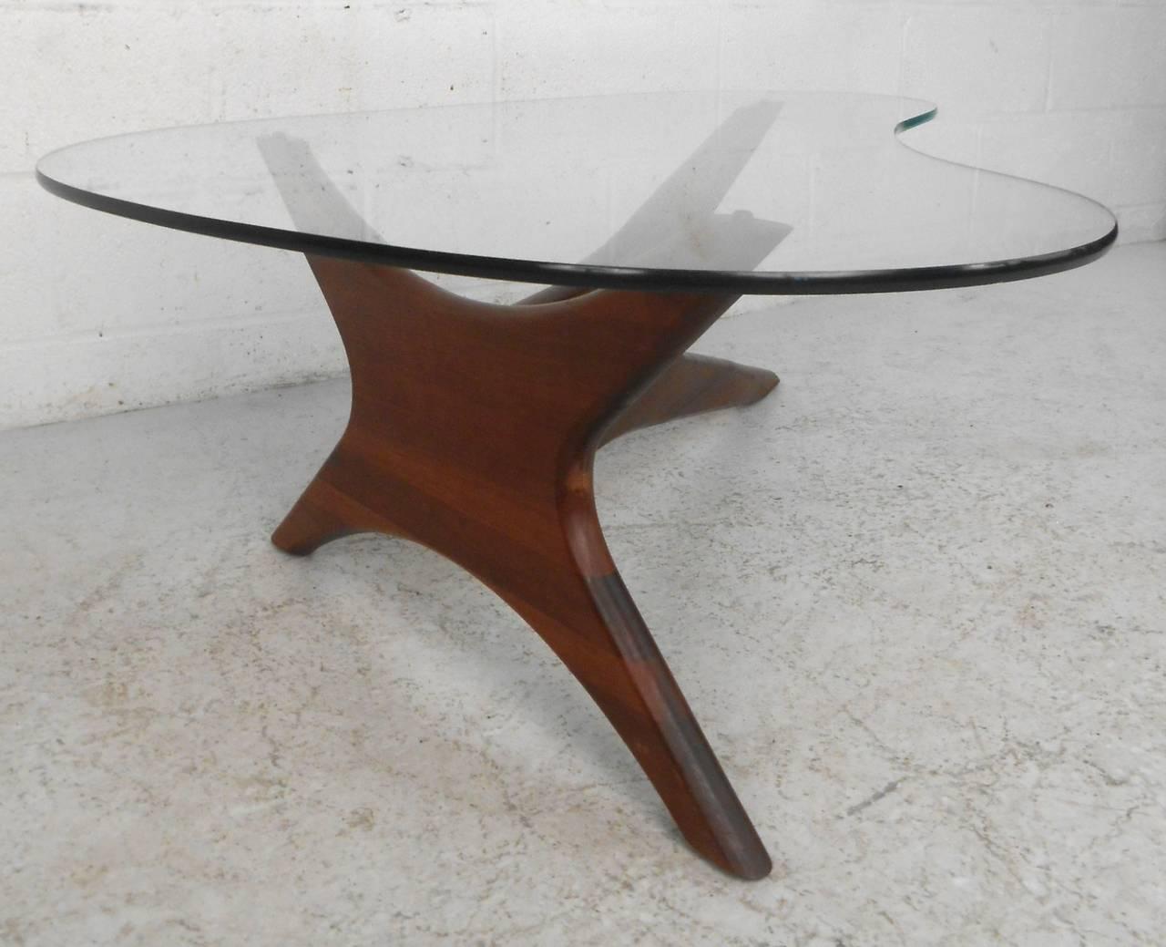 Mid Century Modern Adrian Pearsall Kidney Shaped Jacks Coffee Table At 1stdibs