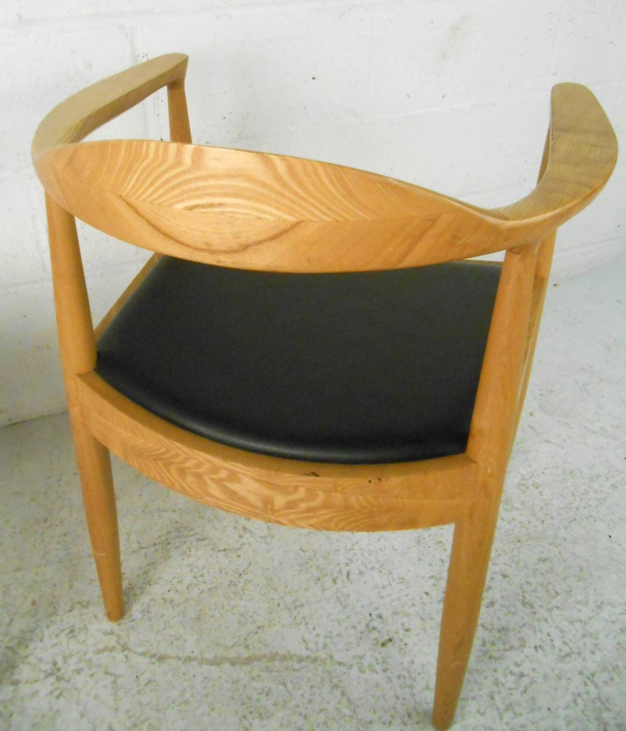 Pair of mid century modern hans wegner the chair style armchairs for sale at 1stdibs - Hans wegner style chair ...